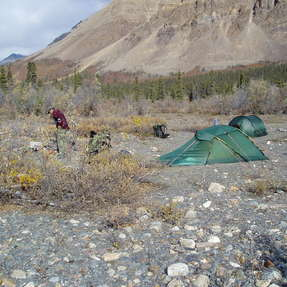 spike camp, NWT, Kanada